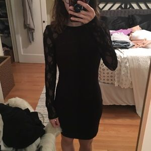 Black Dress with Lace arm details / NWT